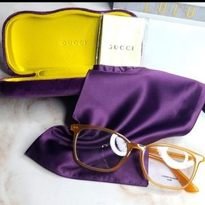 Gucci Sensual Romantic rx blue light glasses New with case, pouch and cloth